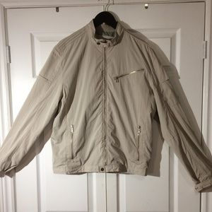 Other - Calvin Klein Beige Nylon Moto Jacket - LARGE -NWOT